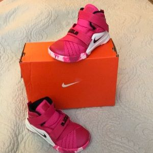 acc245b34196 Nike Shoes - Pink   white Nike Lebron Soldier IX girls sneakers